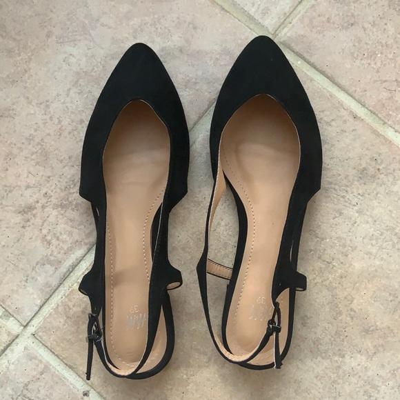 Zara flats leather shoes